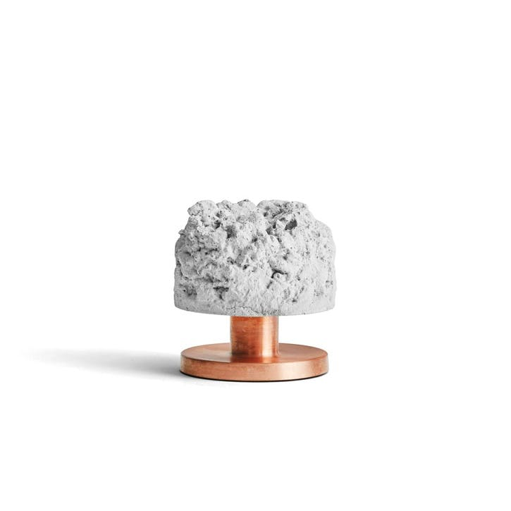 Crowd, Candle Holder, D10cm, Concrete with Copper Base