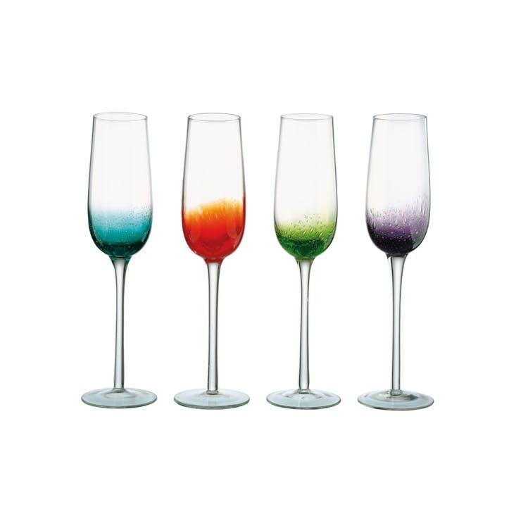 Fizz Set of Four Champagne Flutes