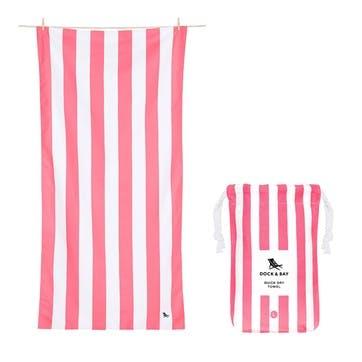 Cabana Beach Towel, Kuta Pink, Extra Large