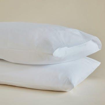 Crisp & Cool Organic Super King Pillowcases, Set of 2