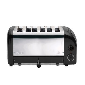 Classic Vario 6 Slot Toaster, Black