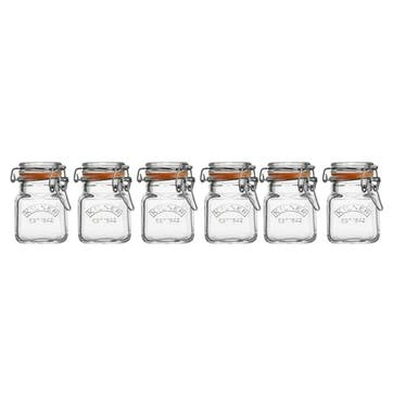 Glass Clip Top Spice Jar Set