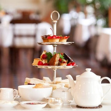 Indulgent Champagne Afternoon Tea and Spa Treatment in Berkshire for Two