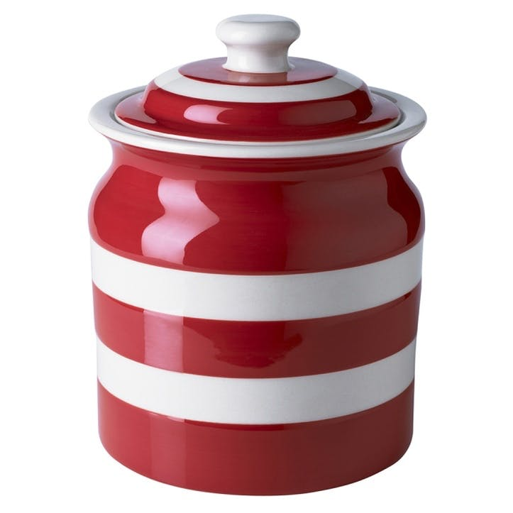 Red Large Storage Jar, 59oz/168cl, Red
