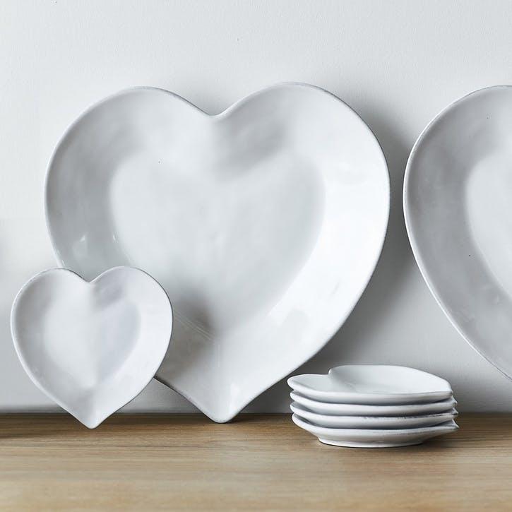 Porto Stoneware Heart Side Plate