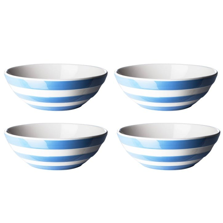 Cornish Blue Cereal Bowls, Set of 4