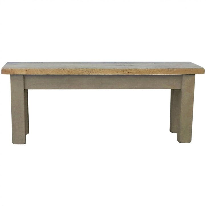 Cotswold Bench, Grey/Natural