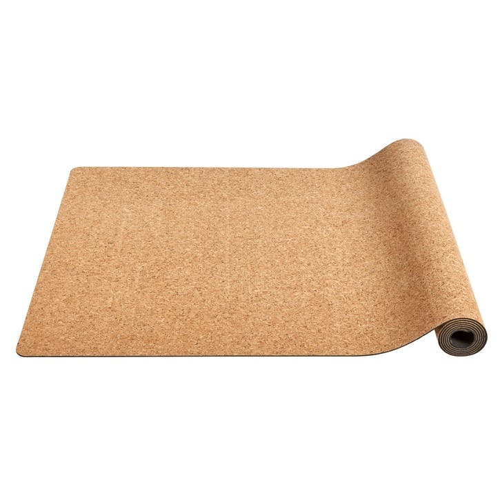Yoga Exercise Mat, Cork & Rubber