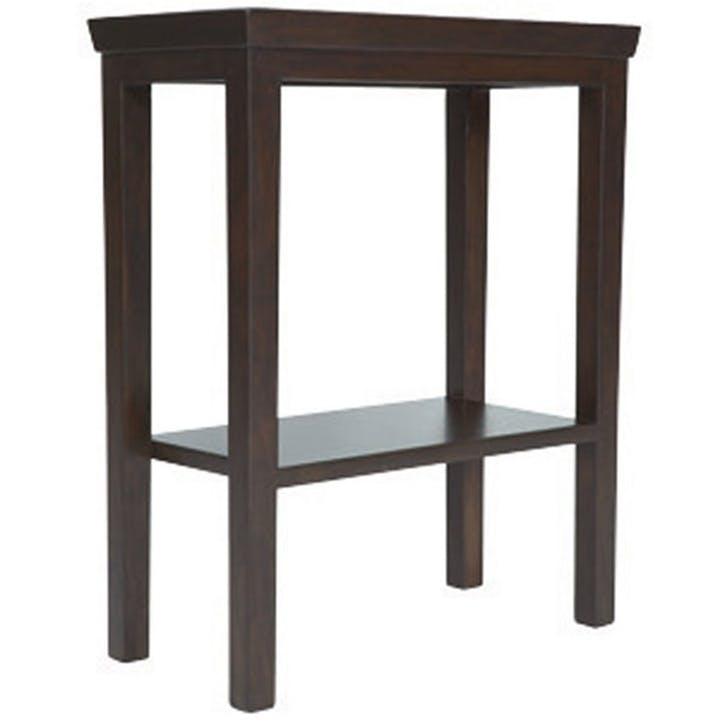 Gustavian Wooden Side Table, Ebony Brown