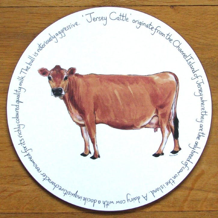 Jersey Cow Tablemat - 28cm
