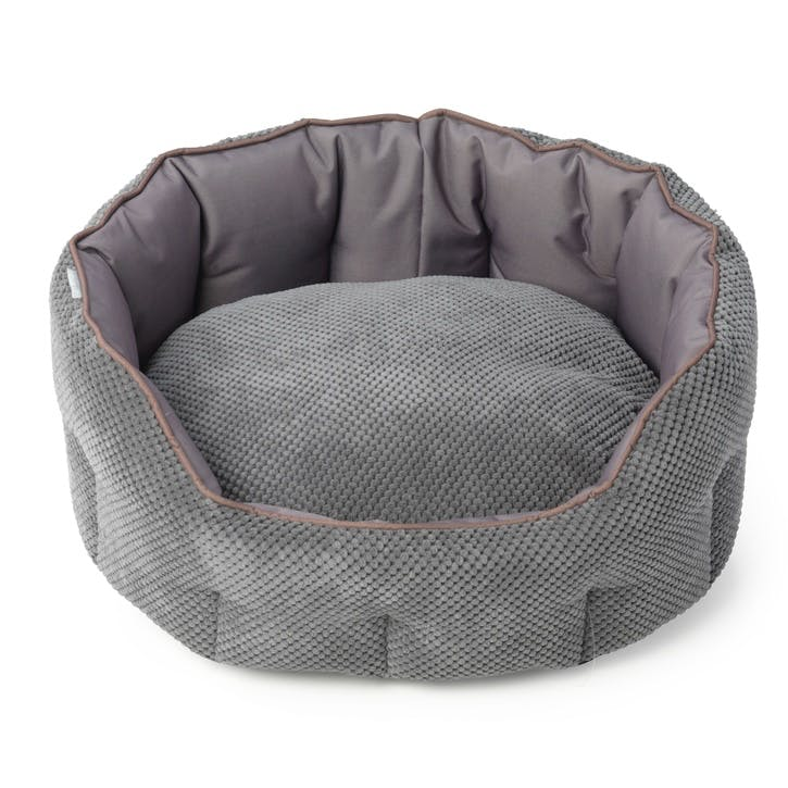 Cord & Water Resistant Oval Snuggle Bed, L