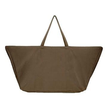 Canvas Big Long Bag, L100 x W35 x H50cm, Clay