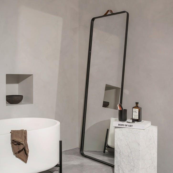 Norm, Floor Mirror, H170 x W60 x D4cm, Black