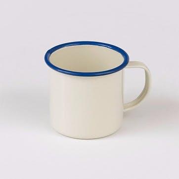 Enamel Mug, Blue Trim