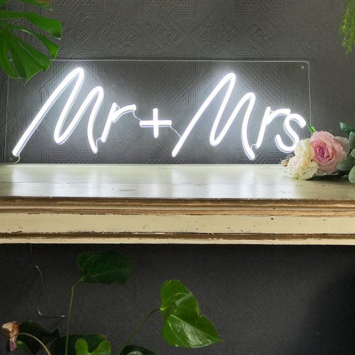'Mr + Mrs' LED Neon Light