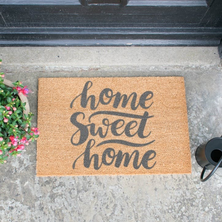 Home Sweet Home Doormat, Grey