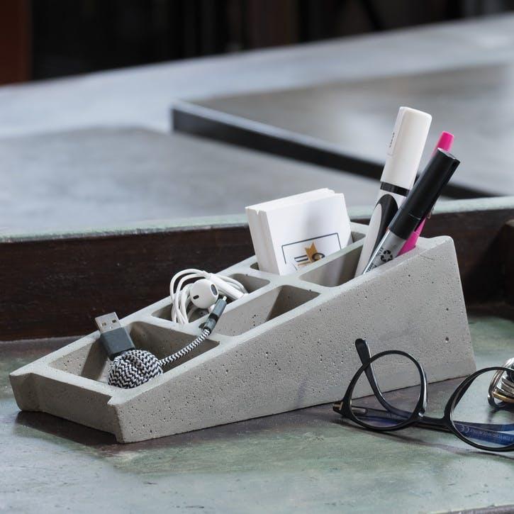 Low Tech Blockwork Desk Organiser