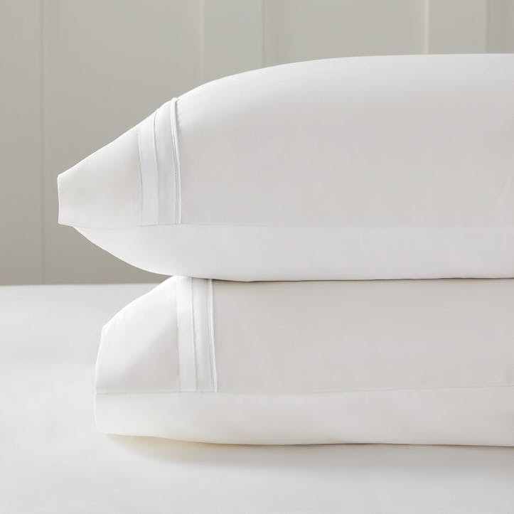 Cavendish Pillowcase, Super King, White