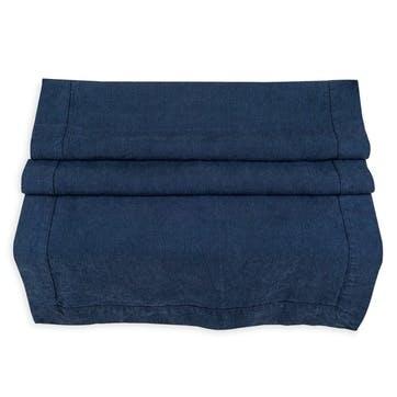 Linen Table Runner; Midnight Blue