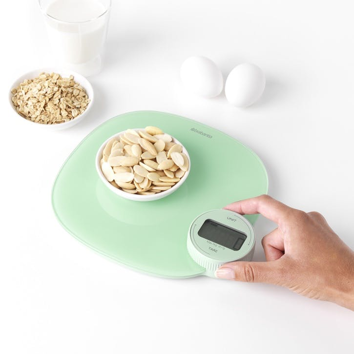 Tasty+ WindUp Digital Kitchen Scales, Jade Green