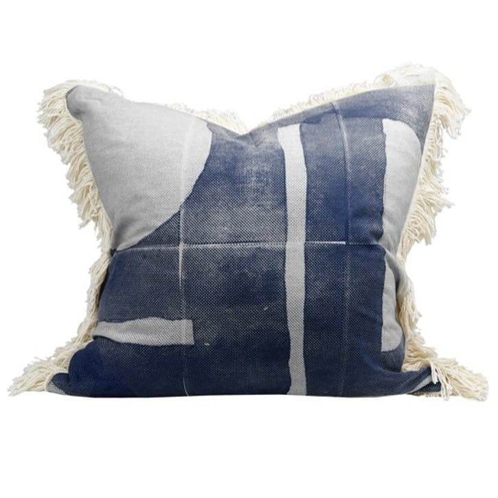 Preston Print Cushion, Navy