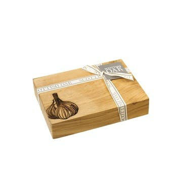 Garlic Oak Chopping Board