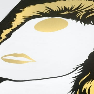 Icon Bowie Tea Towel, 47cm x 74cm, Gold