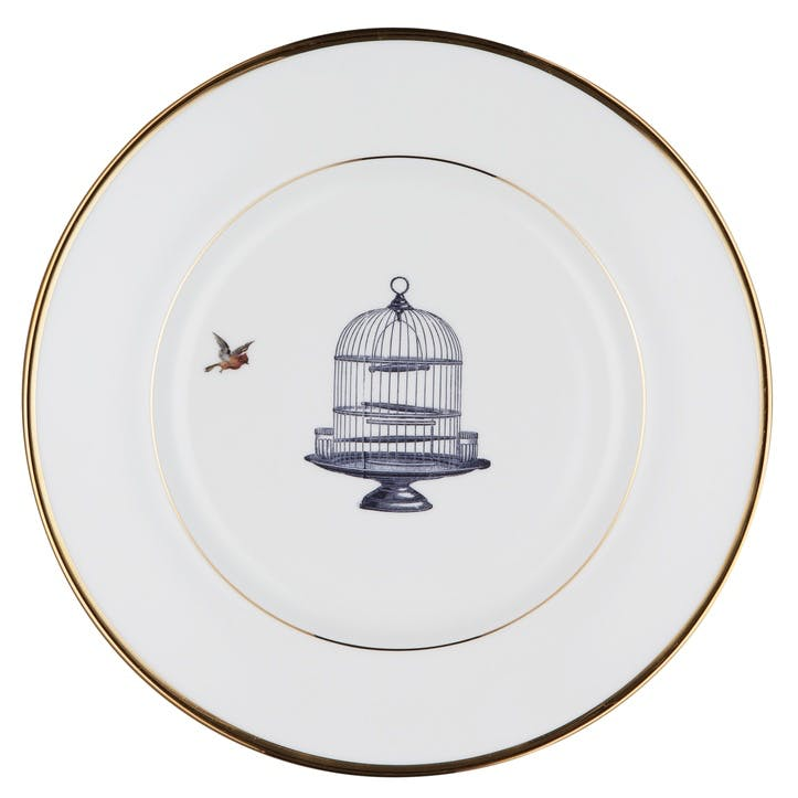 Urban Nature Birdcage and Bird Dinner Plate