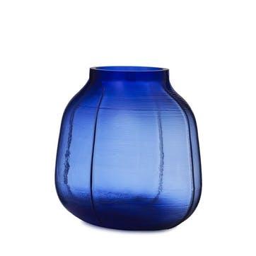 Step Medium Vase H23 x D17 x D11.5cm Blue