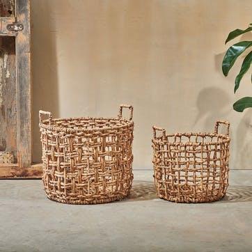 Kora, Round Storage Basket, Large, Natural
