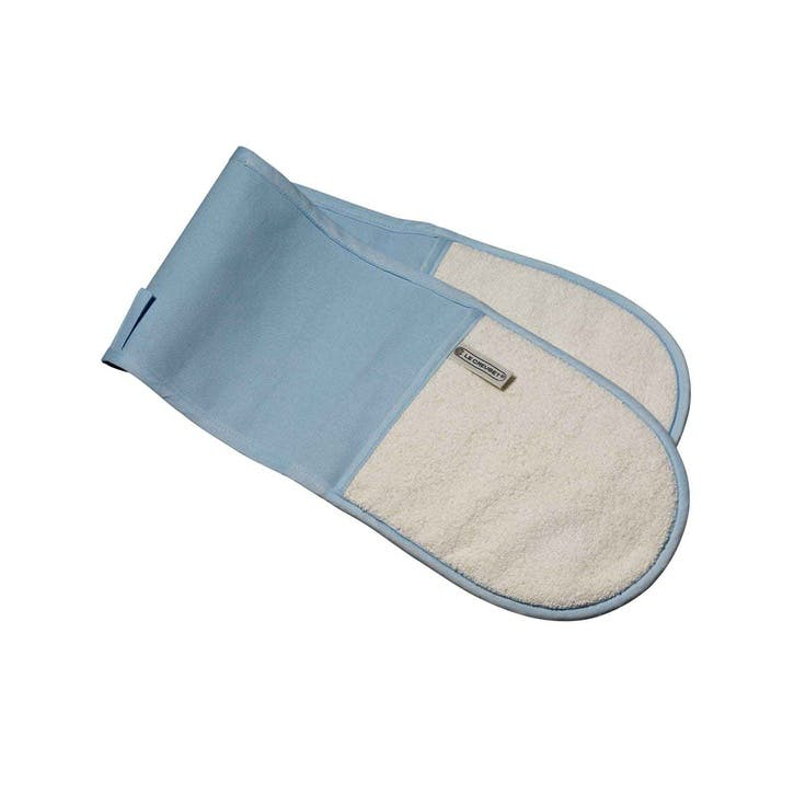 Double Oven Glove; Coastal Blue