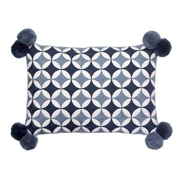 Fez Pompom Cushion, Charcoal