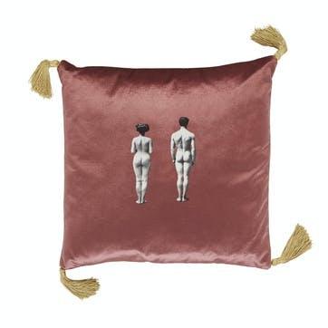 The Models Velvet Cushion, Rose