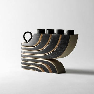 Nordic Light Foldable Candelabra, Black