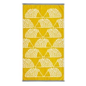 Spike the Hedgehog Bath Towel, Mustard