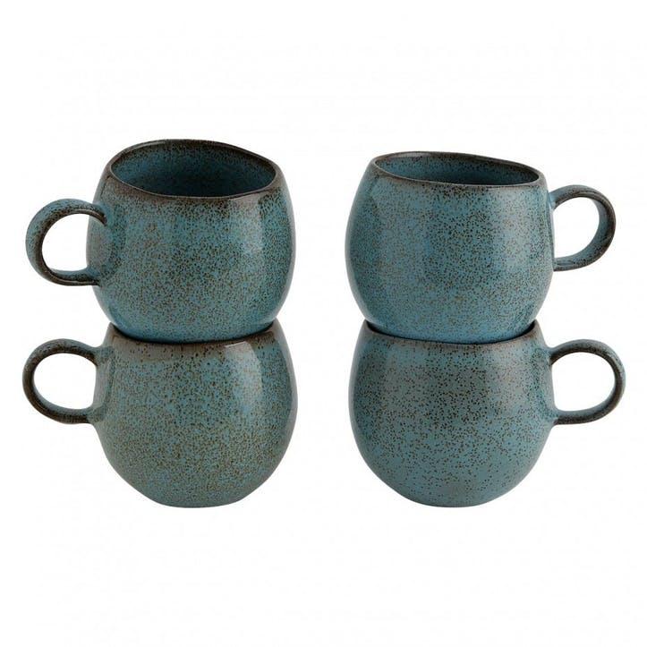 Olmo Mug, Set of 4, Turquoise