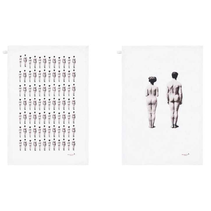 Modern Surrealist The Models Tea Towels, Set of 2