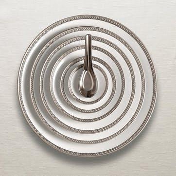 Soie Tressée Side Plate, Platinum