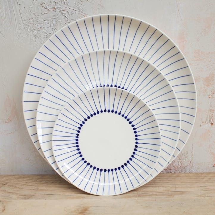 Iba Ceramic Dinner Plate; Indigo
