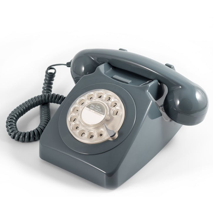 746 Rotary Telephone; Grey