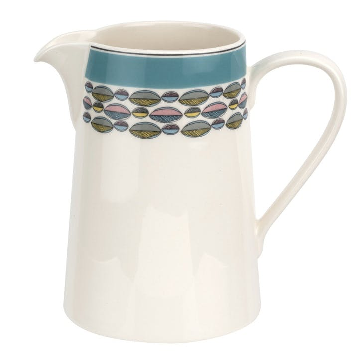 Westerly 1.5pt Jug; Turquoise Band