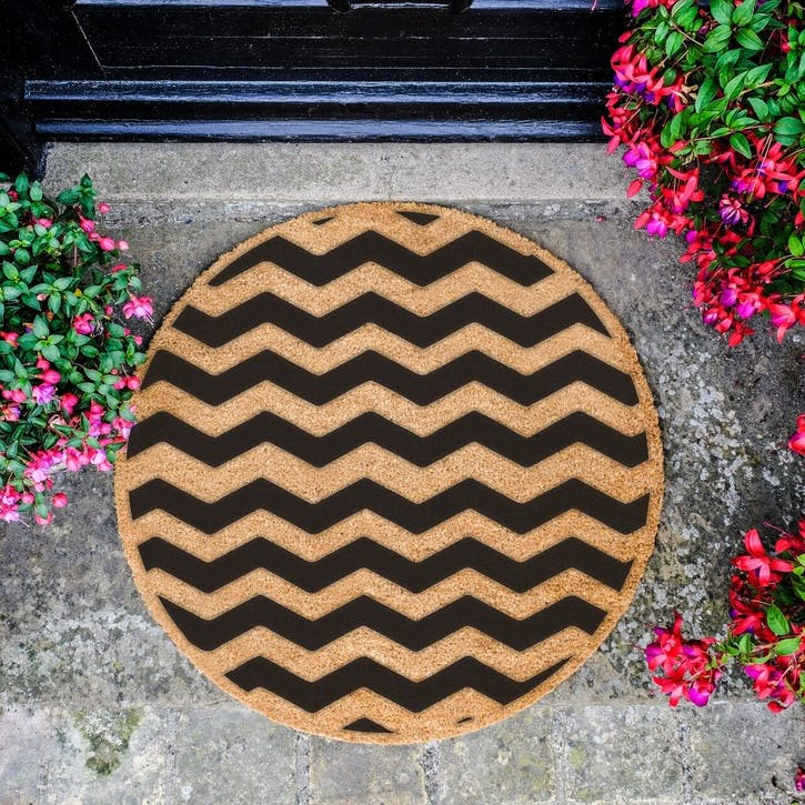 Chevron Circle Doormat