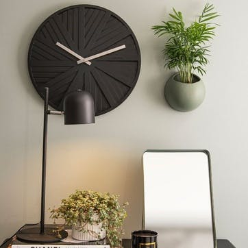 Slides Wall Clock, Black