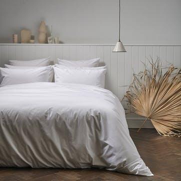 Classic Cotton Duvet Set, 230 x 220cm, Snow