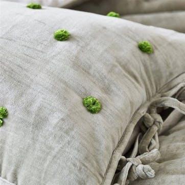 Sevanti Dove Cushion with Pom Poms