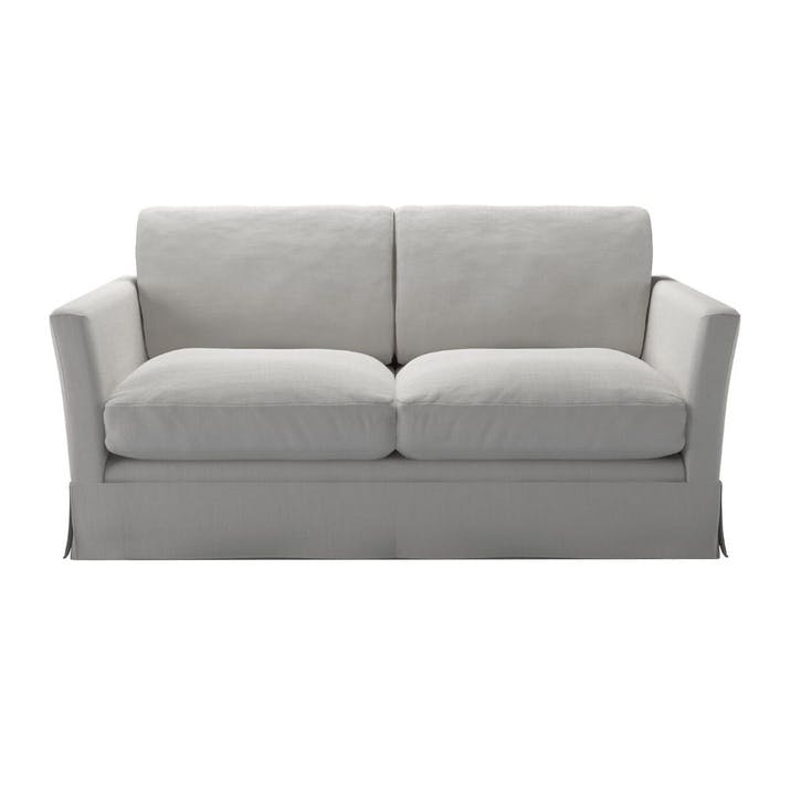 Otto, Two Seat Sofa, Alabaster Brushed Linen Cotton