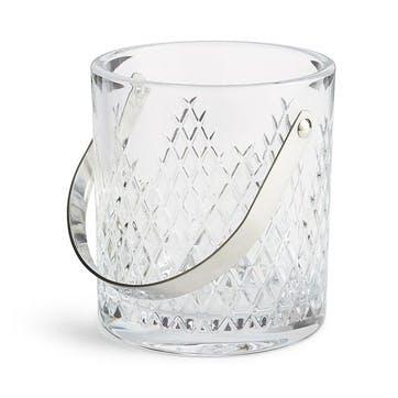 Barwell Cut Crystal Ice Bucket, Clear