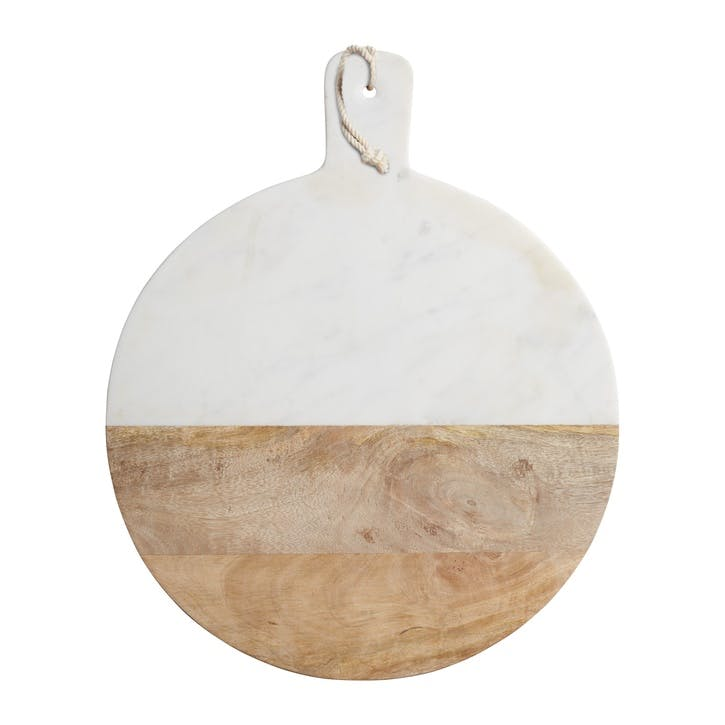 Gourmet Prep & Serve Wood & Marble Paddle Board