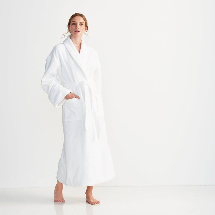 Unisex Classic Cotton Robe, Extra Small, White