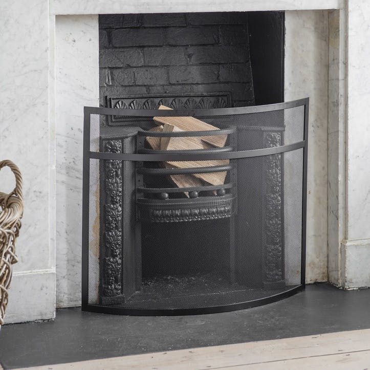 Bretforton Firescreen, Small, Black